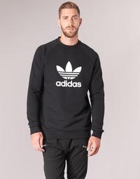 Ruhák Férfi Pulóverek adidas Originals TREFOIL CREW Fekete