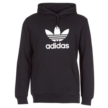 Ruhák Férfi Pulóverek adidas Originals TREFOIL HOODIE Fekete