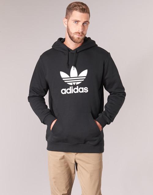 5b8f5c027319 adidas Originals TREFOIL HOODIE Fekete - Ingyenes Kiszállítás ...