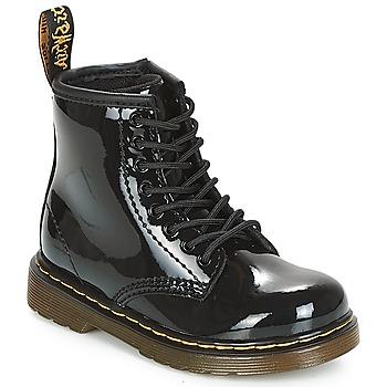 Cipők Lány Csizmák Dr Martens 1460 PATENT CADET Fekete