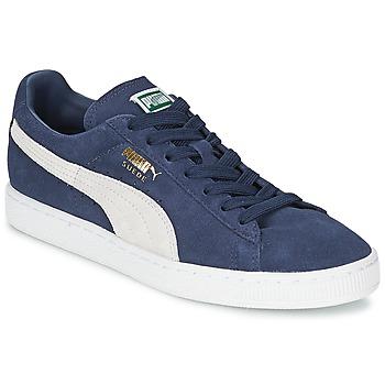 Cipők Rövid szárú edzőcipők Puma SUEDE CLASSIC Kék / Fehér