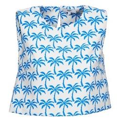 Ruhák Női Trikók / Ujjatlan pólók Suncoo LANA Fehér / Kék