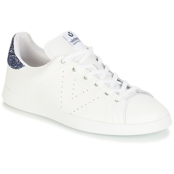 Cipők Lány Rövid szárú edzőcipők Victoria DEPORTIVO BASKET PIEL Fehér / Kék