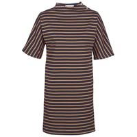 Ruhák Női Rövid ruhák Petit Bateau TUESDAY Tengerész / Citromsárga