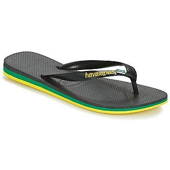 Cipők Férfi Lábujjközös papucsok Havaianas Brasil Layers Fekete