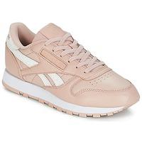 Cipők Női Rövid szárú edzőcipők Reebok Classic CLASSIC LEATHER Rózsaszín / Fehér