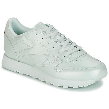 Cipők Női Rövid szárú edzőcipők Reebok Classic CLASSIC LEATHER Zöld