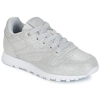Cipők Lány Rövid szárú edzőcipők Reebok Classic CLASSIC LEATHER C Ezüst