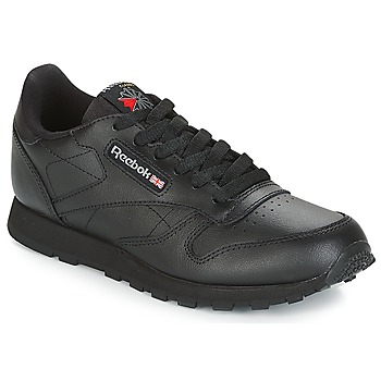 Cipők Gyerek Rövid szárú edzőcipők Reebok Classic CLASSIC LEATHER J Fekete