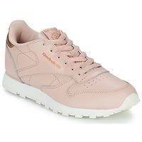 Cipők Lány Rövid szárú edzőcipők Reebok Classic CLASSIC LEATHER J Rózsaszín