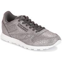 Cipők Lány Rövid szárú edzőcipők Reebok Classic CLASSIC LEATHER J Szürke / Fémes