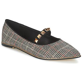 Cipők Női Balerina cipők / babák Menbur DOUMIER Fekete  / Piros
