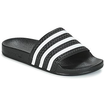 Cipők Rövid szárú edzőcipők adidas Originals ADILETTE Fekete  / Fehér