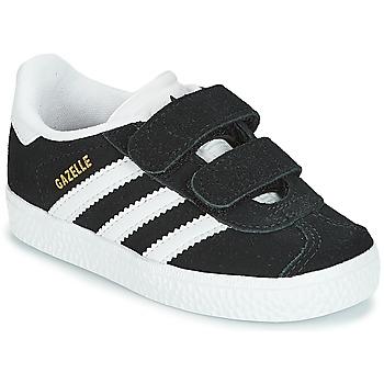 Cipők Gyerek Rövid szárú edzőcipők adidas Originals GAZELLE CF I Fekete