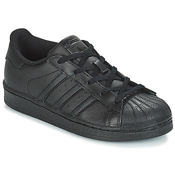 Cipők Gyerek Rövid szárú edzőcipők adidas Originals SUPERSTAR C Fekete
