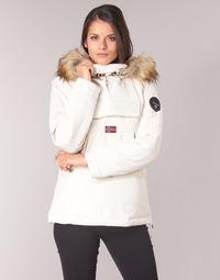 Ruhák Női Parka kabátok Napapijri SKIDOO Fehér