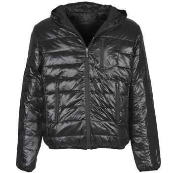 Ruhák Férfi Steppelt kabátok Umbro DIAMOND-DOUDOUNE-NOIR-SCHISTE Fekete