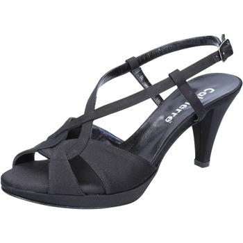 Cipők Női Szandálok / Saruk Calpierre sandali nero raso BZ739 Nero