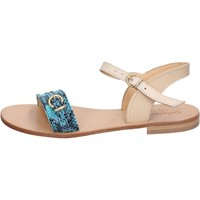 Cipők Női Szandálok / Saruk Calpierre sandali verde pelle marrone BZ837 Multicolore