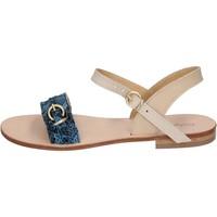 Cipők Női Szandálok / Saruk Calpierre sandali blu pelle BZ838 Blu