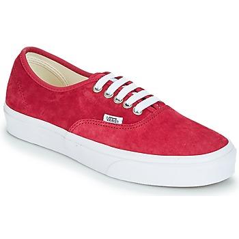 Cipők Női Rövid szárú edzőcipők Vans AUTHENTIC Piros
