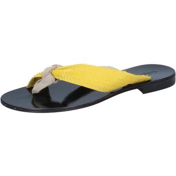 Cipők Női Szandálok / Saruk Calpierre sandali beige camoscio giallo pelle BZ869 Beige