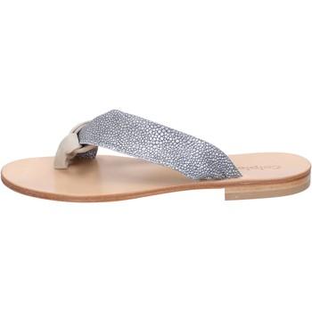 Cipők Női Szandálok / Saruk Calpierre sandali grigio camoscio beige tessuto BZ880 Multicolore