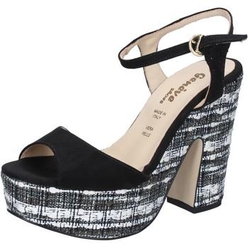 Cipők Női Szandálok / Saruk Geneve Shoes BZ893 Fekete