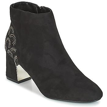 Cipők Női Bokacsizmák Moony Mood JASMINA Fekete