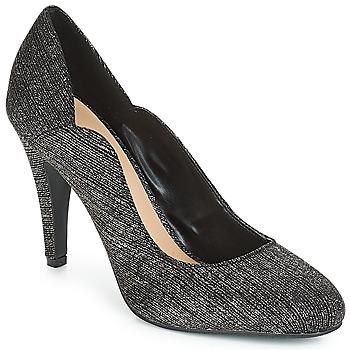 Cipők Női Félcipők Moony Mood JANNEE Fekete  / Ezüst