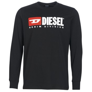 Ruhák Férfi Hosszú ujjú pólók Diesel T JUST LS DIVISION Fekete