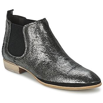 Cipők Női Csizmák Un Matin d'Ete TOBAGO Fekete  / Ezüst