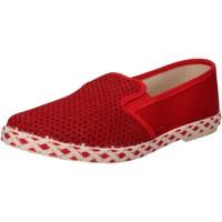 Cipők Férfi Belebújós cipők Caffenero slip on rosso tela AE159 Rosso