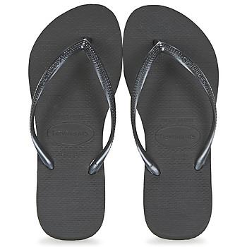 Cipők Női Lábujjközös papucsok Havaianas SLIM Fekete