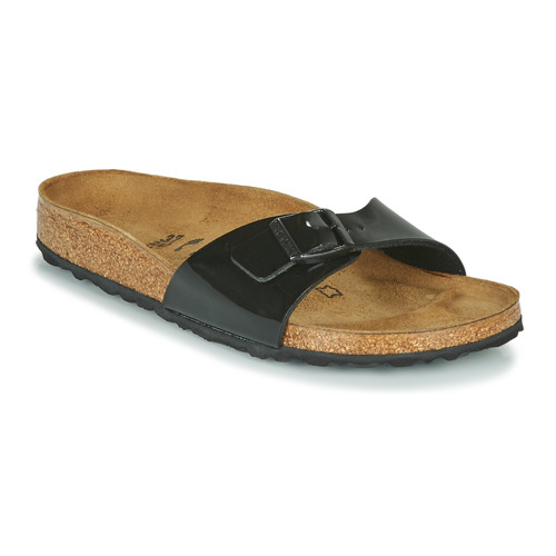 Cipők Női Papucsok Birkenstock MADRID Fekete  / Lakkozott