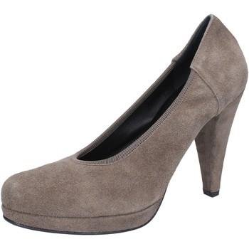 Cipők Női Félcipők Calpierre decolte beige camoscio AJ405 Beige