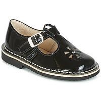 Cipők Lány Balerina cipők / babák Aster DINGO Fekete  / Fényes