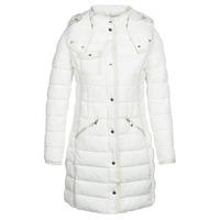Ruhák Női Steppelt kabátok Desigual INGA Fehér