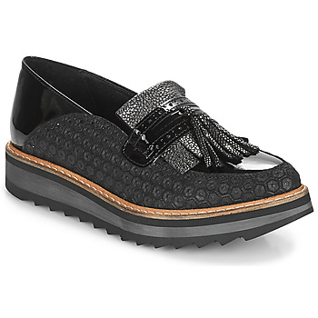 Cipők Női Mokkaszínek Regard RINOVI V2 COMET NERO Fekete