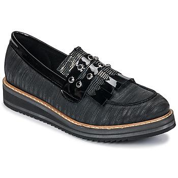 Cipők Női Mokkaszínek Regard RUVOLO V1 ZIP NERO Fekete