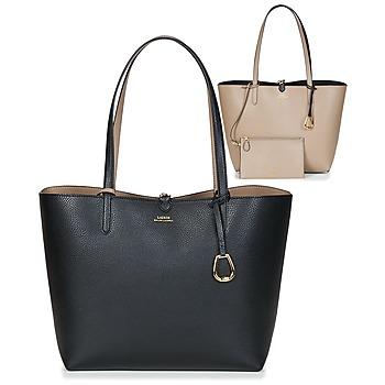 Táskák Női Bevásárló szatyrok / Bevásárló táskák Lauren Ralph Lauren MERRIMACK REVERSIBLE TOTE MEDIUM Fekete  / Tópszínű