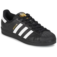 Cipők Rövid szárú edzőcipők adidas Originals SUPERSTAR FOUNDATION Fehér / Fekete