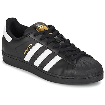 Cipők Férfi Rövid szárú edzőcipők adidas Originals SUPERSTAR FOUNDATION Fehér / Fekete