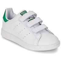 Cipők Gyerek Rövid szárú edzőcipők adidas Originals STAN SMITH CF C Fehér / Zöld