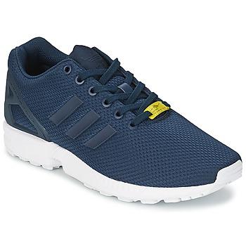 Cipők Férfi Rövid szárú edzőcipők adidas Originals ZX FLUX Kék / Fehér