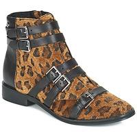 Cipők Női Bokacsizmák Le Temps des Cerises IZY Leopárd