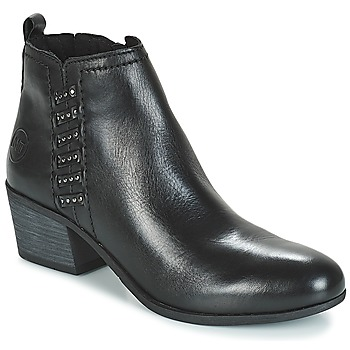 Cipők Női Bokacsizmák Marco Tozzi HISSU Fekete