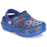 Cipők Gyerek Klumpák Crocs CLASSIC LINED GRAPHIC CLOG K Kék