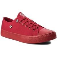 Cipők Női Rövid szárú edzőcipők Big Star AA274007 Piros