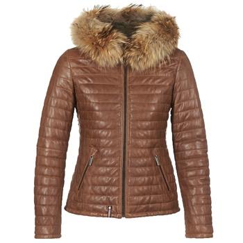 Ruhák Női Steppelt kabátok Oakwood HAPPY Konyak